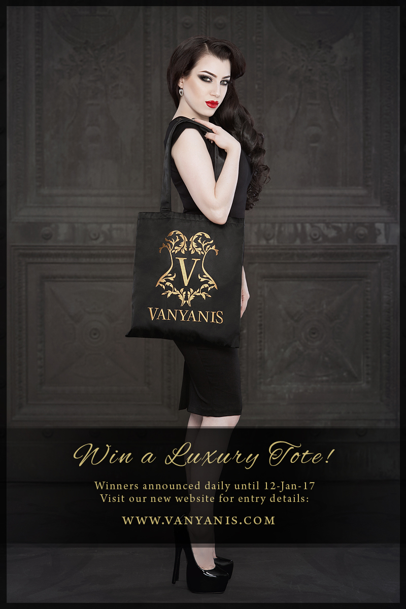 Vanyanis Luxury Tote Bag Giveaway. Model: Threnody in Velvet © Iberian Black Arts