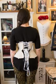 Fitting the corset toile © Amy Earl