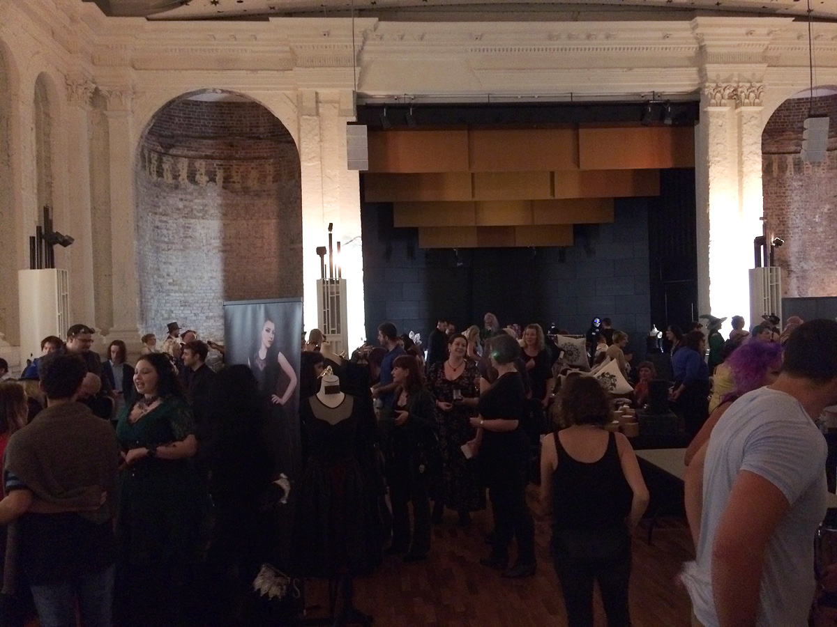 Part of the crowd at MAD Fashion showcase in the Fitzroy Town Hall © Emily Cowan