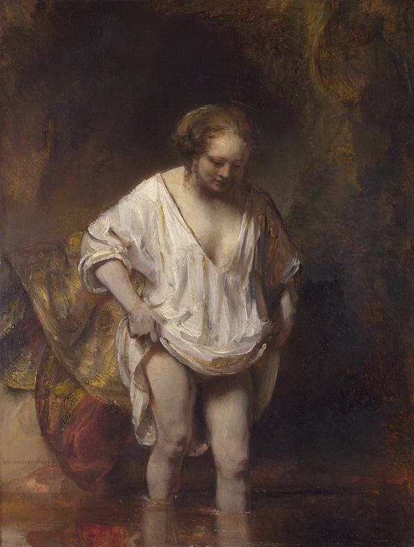 Hendrickje Bathing, Rembrandt Van Rijn, 1654
