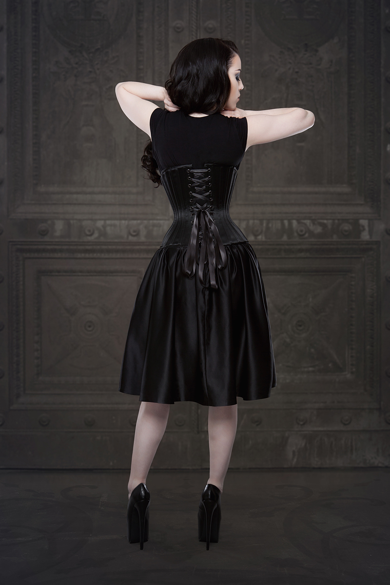 Ebonique Collection by Vanyanis with Alecto Underbust. Model: Threnody in Velvet © Iberian Black Arts
