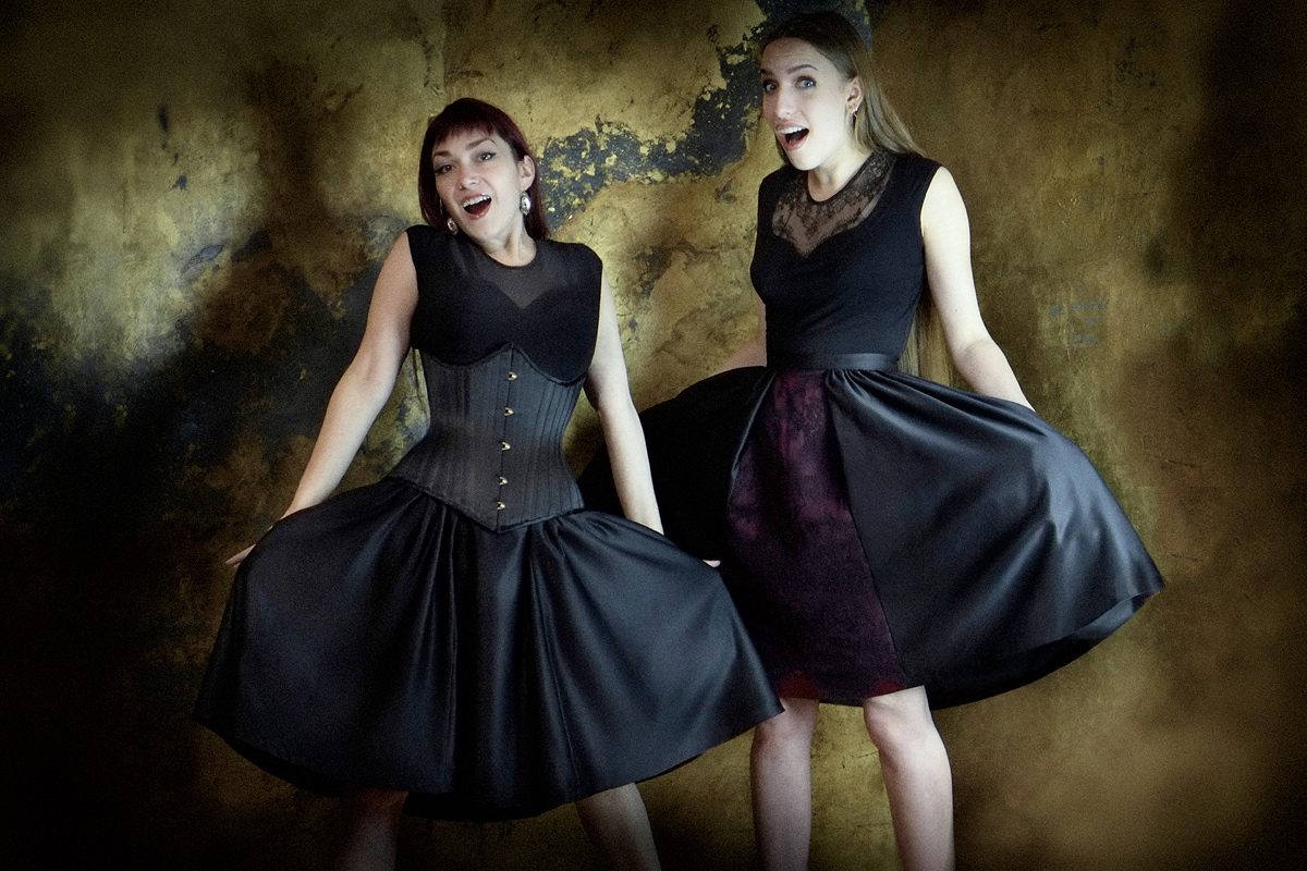 Ebonique Collection by Vanyanis. Models: Victoria Dagger & Karolina Laskowska © Jenni Hampshire
