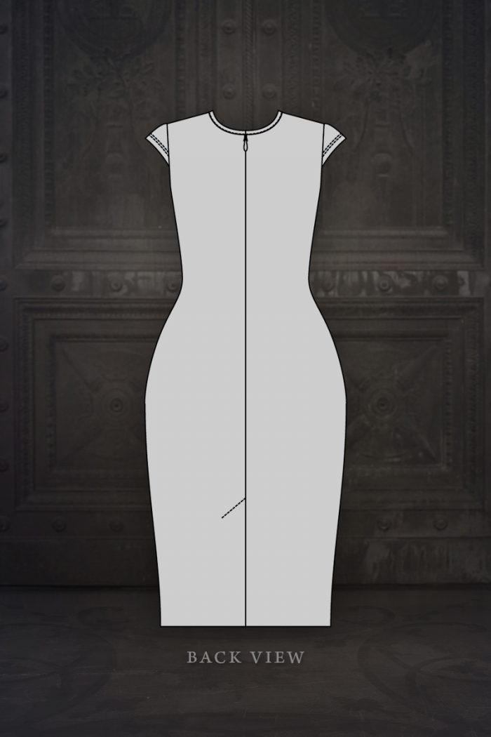 Ebonique-Pencil-Dress-Design-Illustration---back