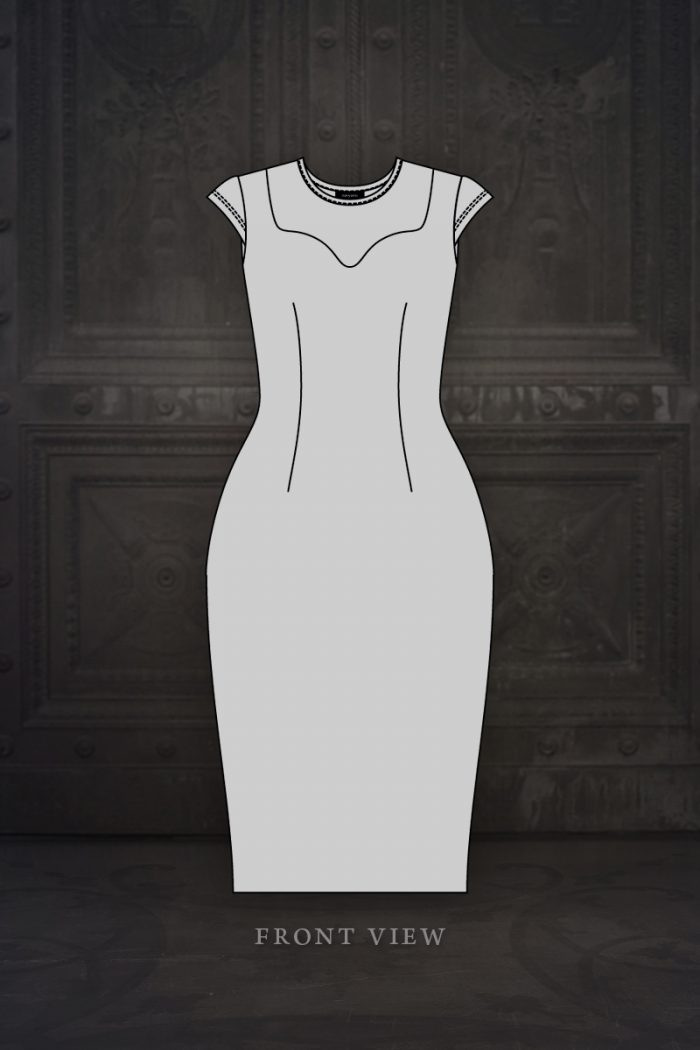 Ebonique-Pencil-Dress-Design-Illustration---mesh
