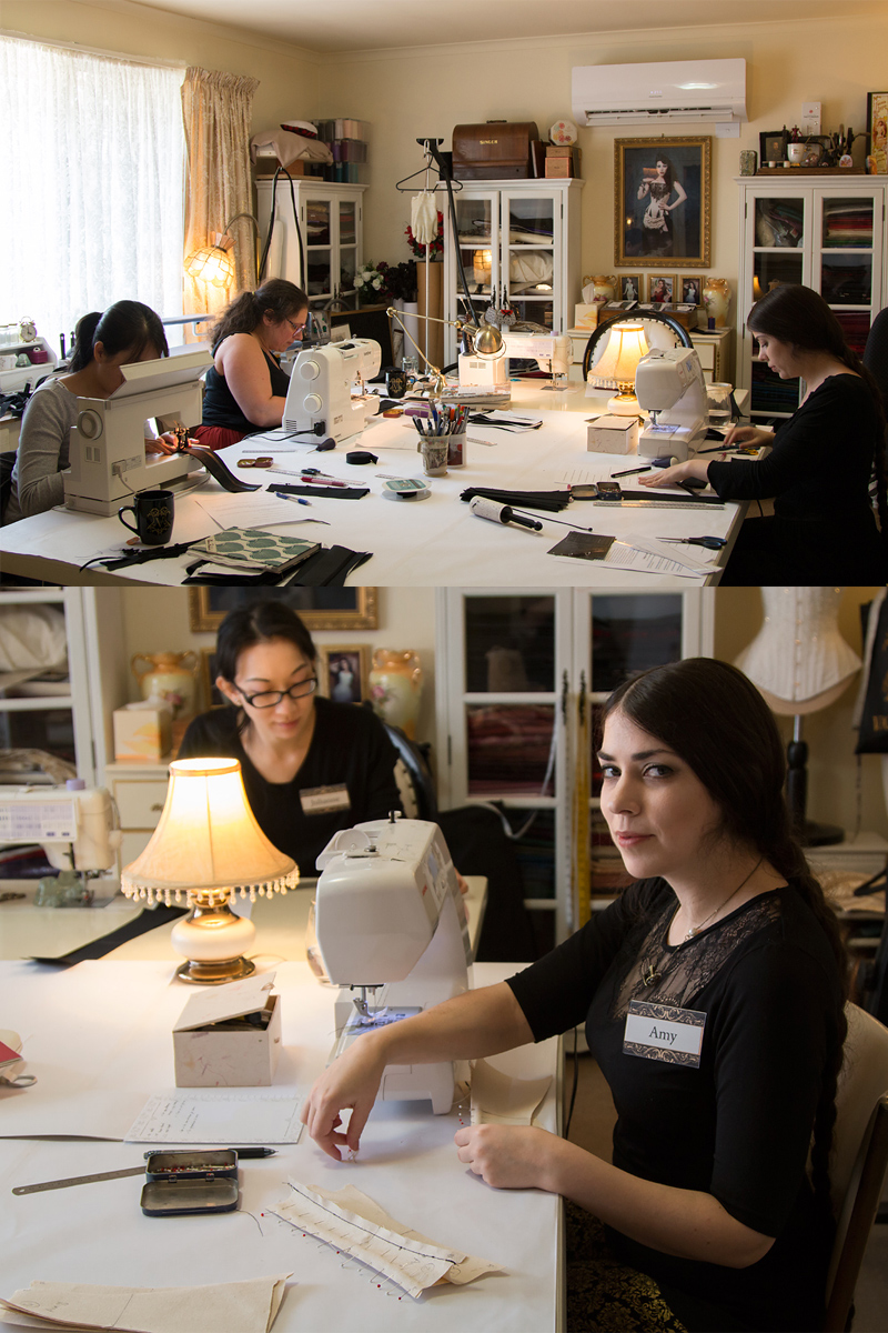 Corset making in progress © Amy Earl