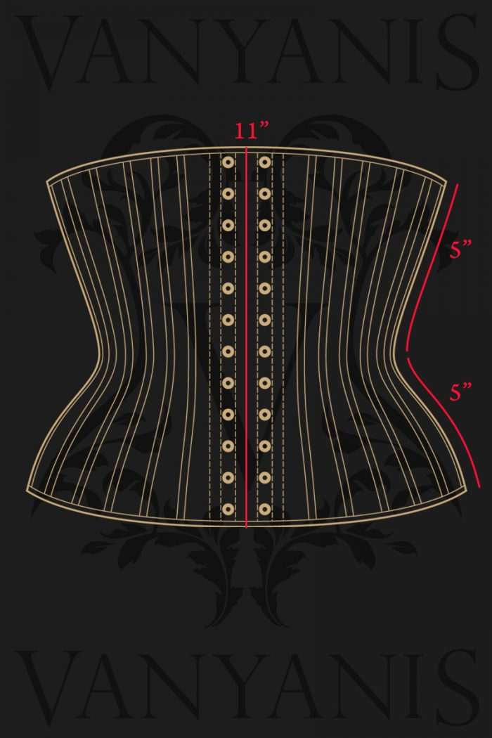 Lillian-Underbust-Corset-Measurements-back
