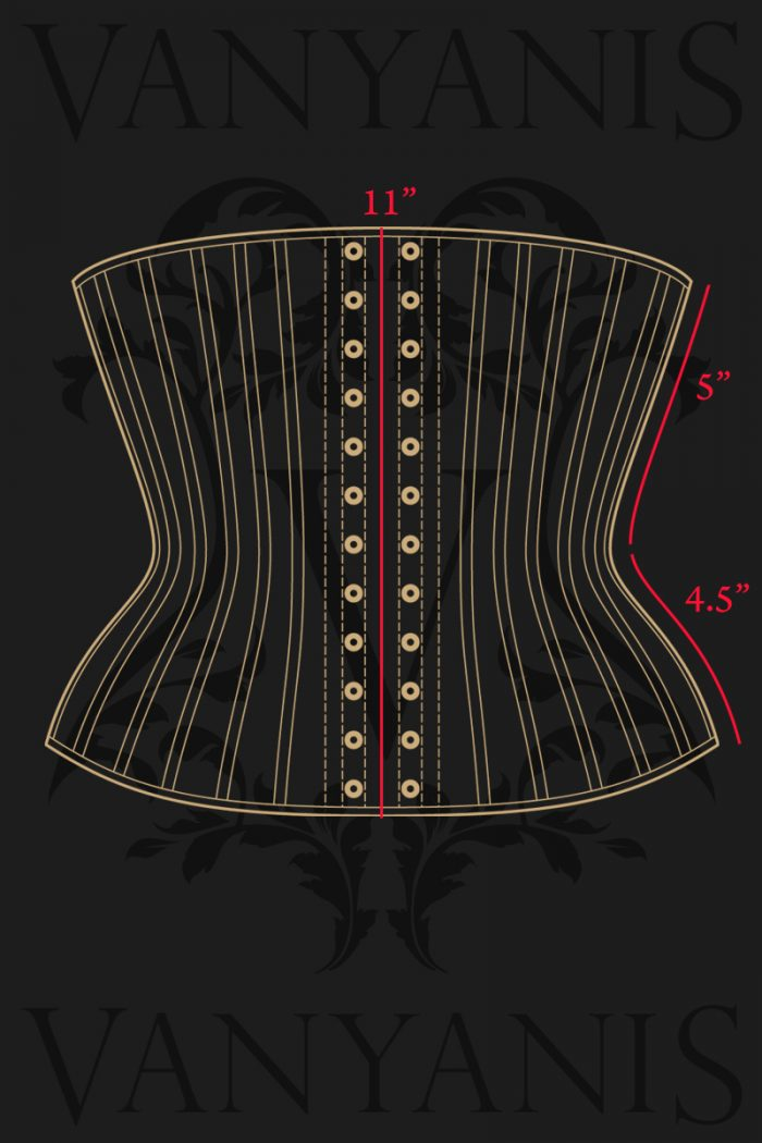 Ruby-Underbust-Corset-Measurements-back