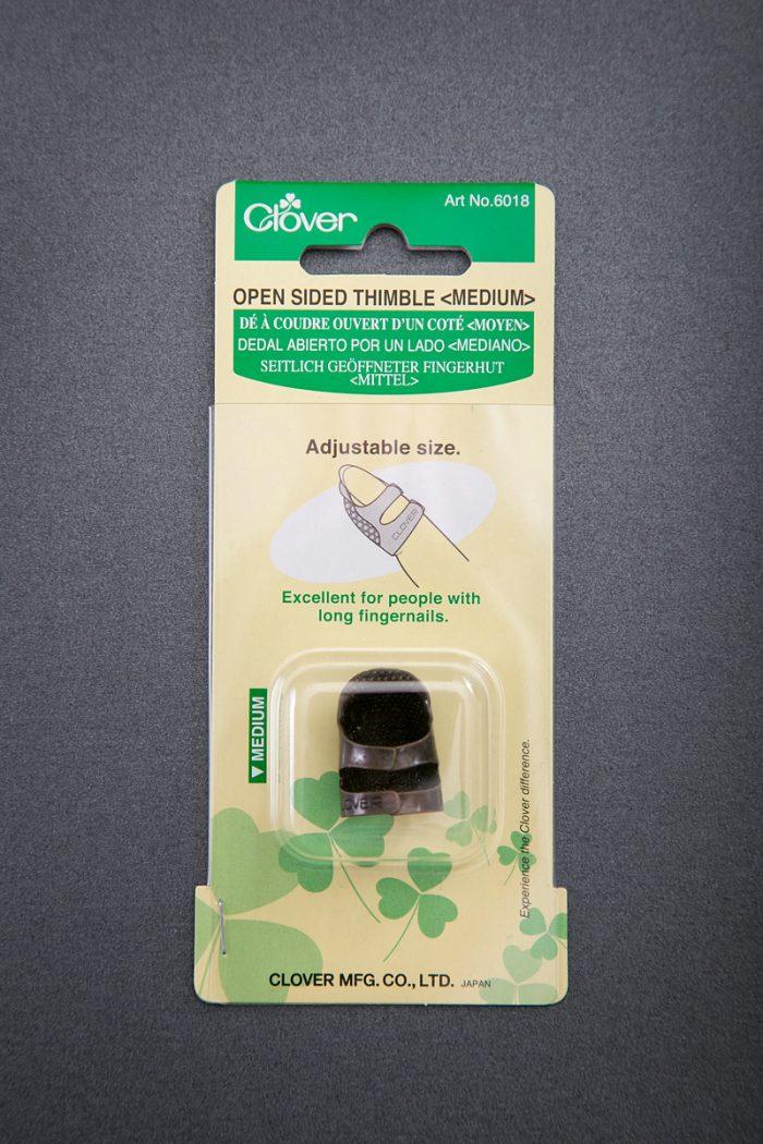 Clover-Open-Sided-Adjustable-Thimble-Medium-Vanyanis